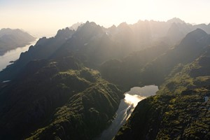 The Trollfjord seen from above - Svolvær, Norway