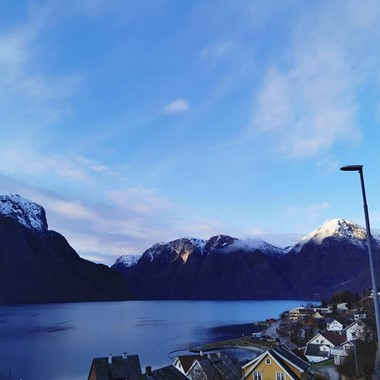 A cold and bright day  by the Aurlandsfjord - Aurland, Norway