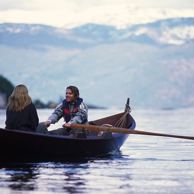 In a rowing boat on the Hardangerfjord - Hardanger