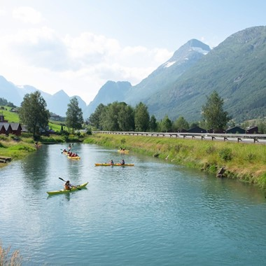 Kayaking on the fjord from Olden - Norway