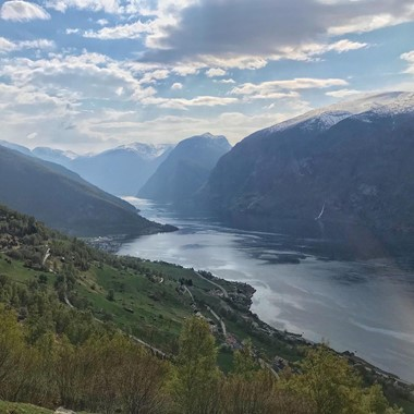 Overlooking the Aurlandsfjord - Aurland, Norway