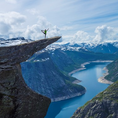 Dance on Trolltunga - Odda, Norway