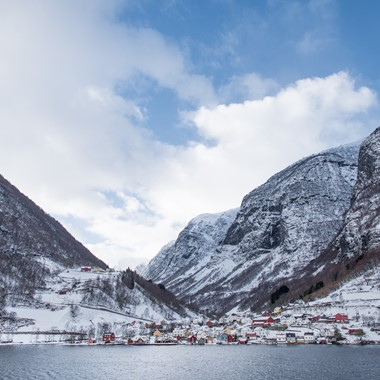 Experience the UNESCO Nærøyfjord on the Northern Lights & Norway in a nutshell® tour, from Bergen and Oslo, Norway