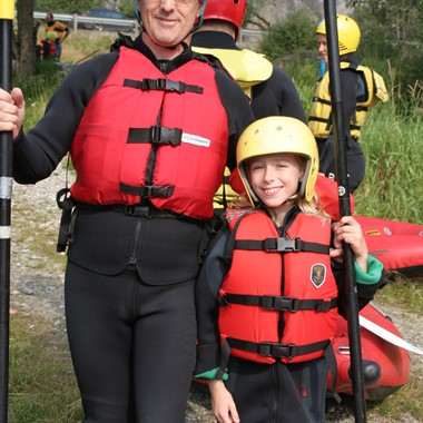 Familien-rafting in Voss