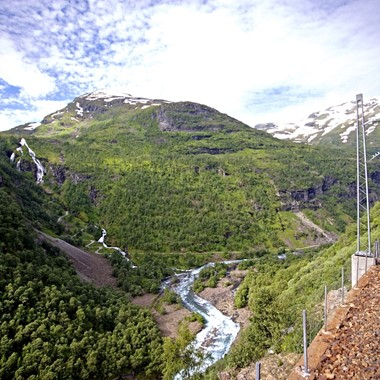River by The Flåm Railway, Norway