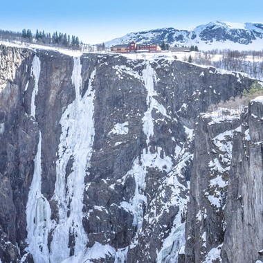Experience the Vøringsfoss waterfall on the Hardangerfjord in a nutshell winter tour by Fjord Tours - Eidfjord, Norway