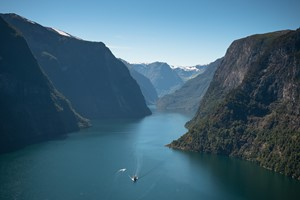 Experience a fjord cruise on the Nærøyfjorden on the Sognefjord & Nærøyfjord in a nutshell tour by Fjord Tours - The Nærøyfjord, Norway