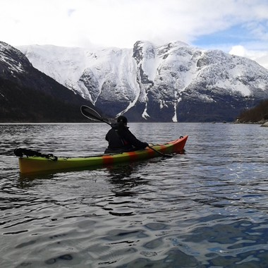 Kayaking on the Hardangerfjord - Hardangerfjord in a nutshell winter tour by Fjord Tours - Eidfjord, Norway