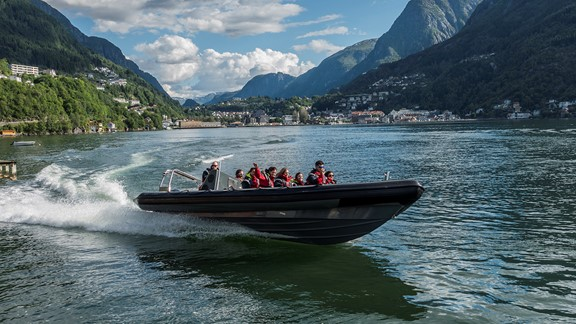 Fjord safari with RIB-boat on the Hardangerfjord from Odda