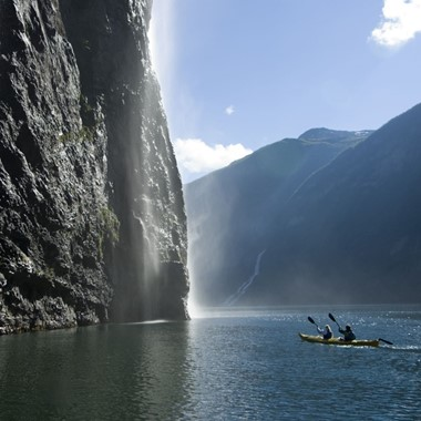 Kayaking on the Geirangerfjord - The Geirangerfjord, Norway