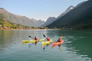 Kayaking tpur on the Norfjord - Olden, Norway