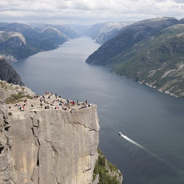 View of the Lysefjord from Preikestolen - Stavanger, Norway