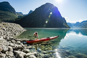 Kayak in Olden,  Norway