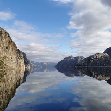 The Lysefjord on a beautiful autumn day - The Lysefjord, Stavanger - Norway