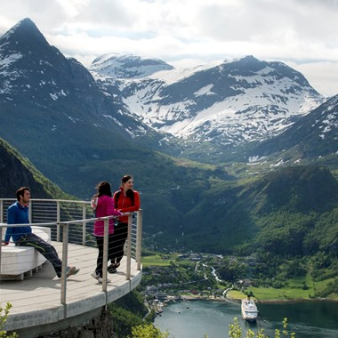 Experience the Eagle Road in Geiranger  with Fjord Tours on the Epic Fjord & Rail tour - Geiranger,Norway