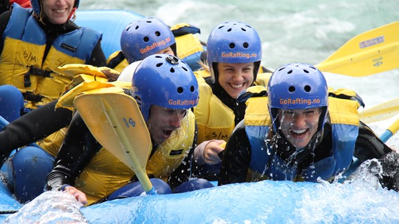 White water rafting in Sjoa