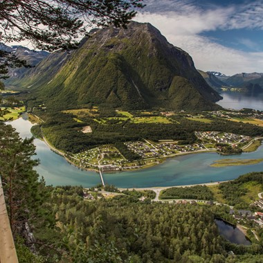 View of Åndalsnes - Norway