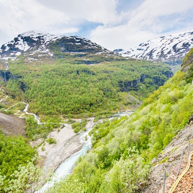 Downhill on the Flåm Railway - Norway