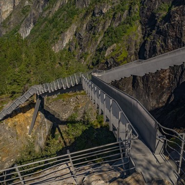 Experience Vøringsfossen Step Bridge with Fjord Tours on the Hardangerfjord in a nutshell tour- Eidfjord Hardanger, Norway