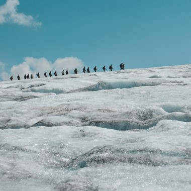 glacier hiking in Norway