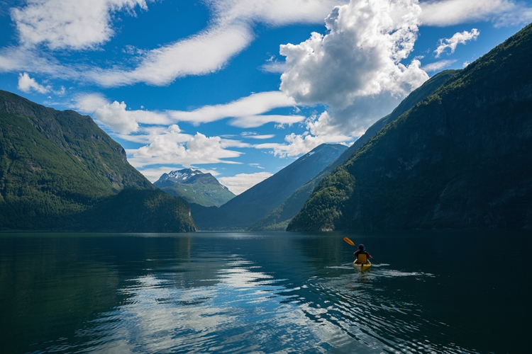 Kayak Tour to The Hidden UNESCO Fjord from Valldal