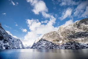 Experience the Nærøyfjord on the Norway in a nutshell® winter tour by Fjord Tours - Flåm, Norway