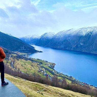 A winter day by the Aurlandsfjord - Aurland, Norway