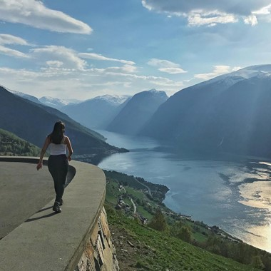 View of the Aurlandsfjord - Aurland, Norway
