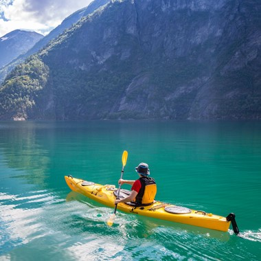 Kayak tour to the hidden UNESCO fjord - Valldal, Norway