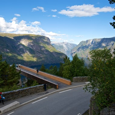 Experience Stegastein view point on the Norway in a nutshell® tour by Fjord Tours