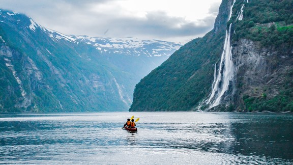 3 hour kayaking trip in Geiranger