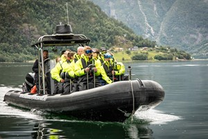 Fjord safari with RIB-boat on the Hardangerfjord from Eidfjord