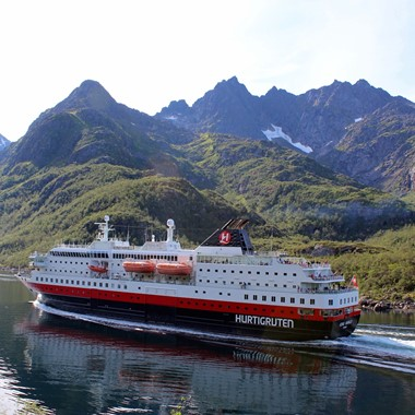 Experience the Hurtigruten on the Hurtigruten & Norway in a nutshell® tour , Trondheim - Bergen, Norway