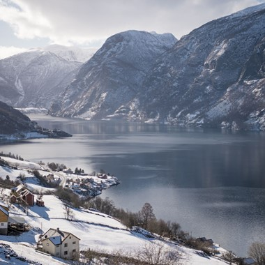 A winter day in Flåm - the Sognefjord, Norway
