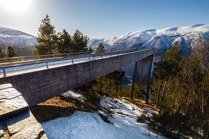 See Stegastein on the Norway in a nutshell® winter tour by Fjord Tours - Flåm, Norway