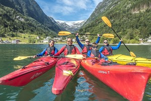 Kayaking on the Hardangerfjord - Odda, Norway