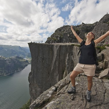 I made it to the top of Preikestolen - Lysefjord, Norway