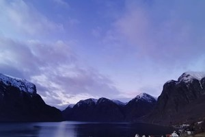 The blue hour by the Aurlandsfjord - Aurland, Norway
