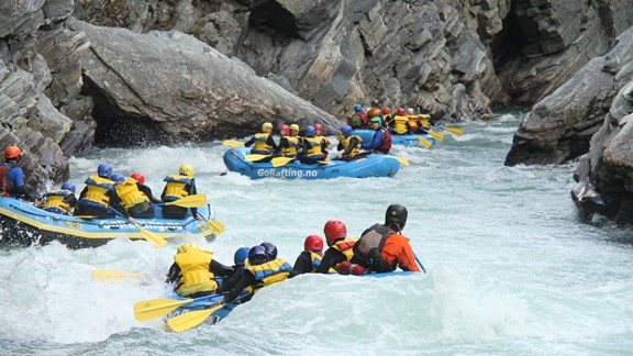 Short rafting trip in Sjoa