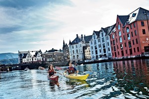 Join in on a kayaking tour in Ålesund on the Epic Fjord & Rail tour  - Ålesund, Norway