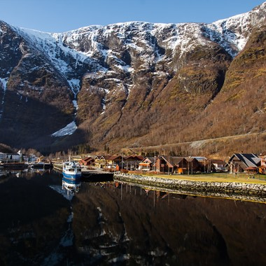 Experience the fjord village Flåm on the Norway in a nutshell® winter tour by Fjord Tours - Flåm, Norway