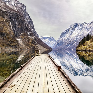 Experience Gudvangen on the Norway in a nutshell® winter tour by Fjord Tours - Gudvangen, Norway
