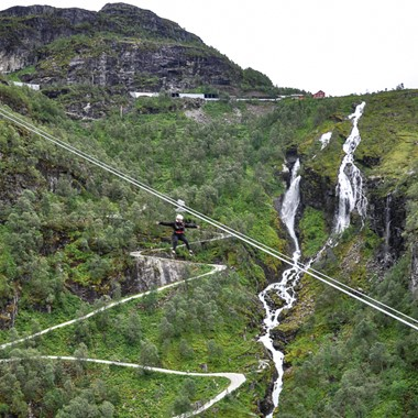 Experience Flåm Zipline on the Norway in a nutshell® tour by Fjord Tours