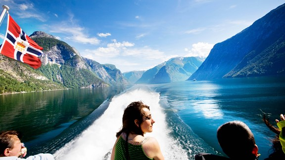 Woman enjoying Norway and the Sognefjord in a nutshell - king of fjords in Norway |Fjord Tours