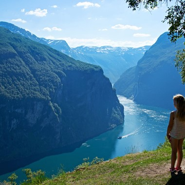 Enjoying the view of the Geirangerfjord - Geirangerfjord, Norway