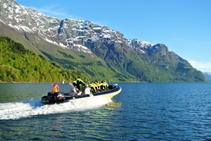 Fjord Rib adventure and hiking to the Feigefossen waterfall