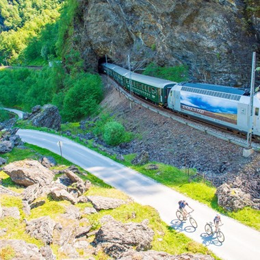 Bikers and the Flåm Railway - Norway
