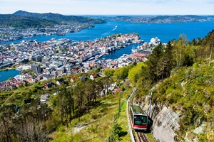 The funicular to Mount Floyen - bergen