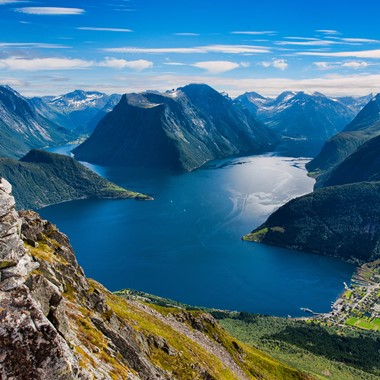 Experience the Hjørundfjord and Hurtigruten on the Hjørundfjorden & Norway in a nutshell® tour, from Bergen, Trondheim and Oslo, Norway