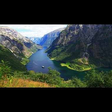 View of the Nærøyfjord - Gudvange, Norway